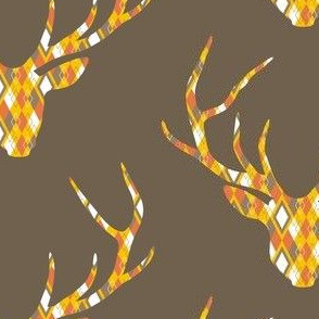 Deerhead Orange Argyle