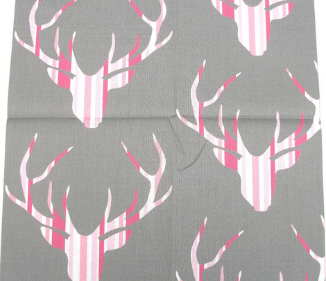 Deerhead Pink Stripes