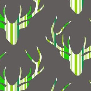 Deerhead Green Stripes