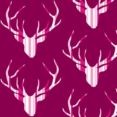 Deerhead Pink Purple Stripes