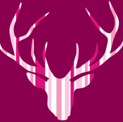 Deerhead Pink Purple Stripes