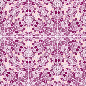 Mosaic in pink