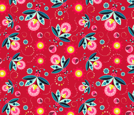 magic light in a summers night fabric by ellengiggenbach on Spoonflower - custom fabric