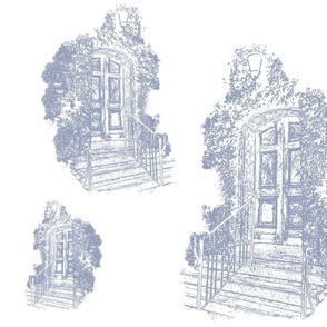 Faded_Doorway in  Grey on White…_Cynthia_Weber-ch-ch-ch-ch-ch-ch