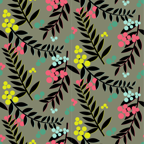 Raquelle Dark fabric by candyjoyce on Spoonflower - custom fabric