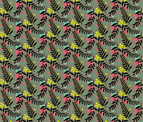 Raquelle Silhouette fabric by candyjoyce on Spoonflower - custom fabric
