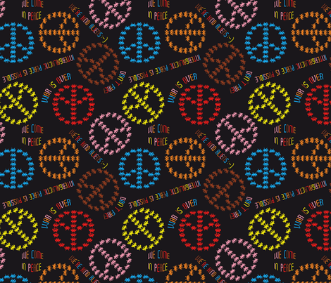 kind Invaders (Black) fabric by vannina on Spoonflower - custom fabric