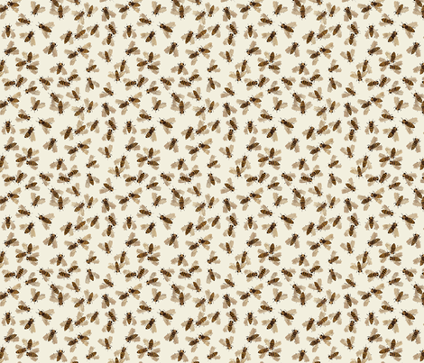 honeybees natural fabric by gollybard on Spoonflower - custom fabric
