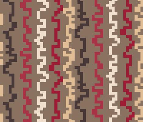 Pixel - Zombie Attack Red fabric by owlandchickadee on Spoonflower - custom fabric