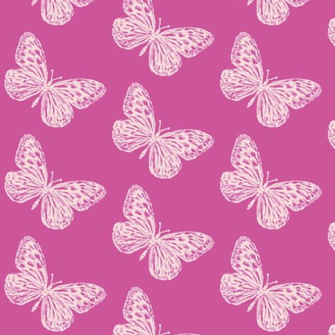 Vivacious Butterflies  fabric by magentarosedesigns on Spoonflower - custom fabric