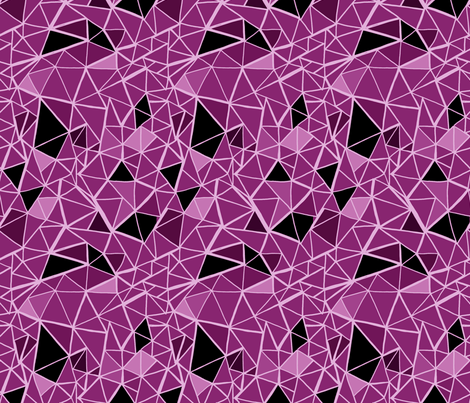 Fragments - Magenta fabric by jesseesuem on Spoonflower - custom fabric