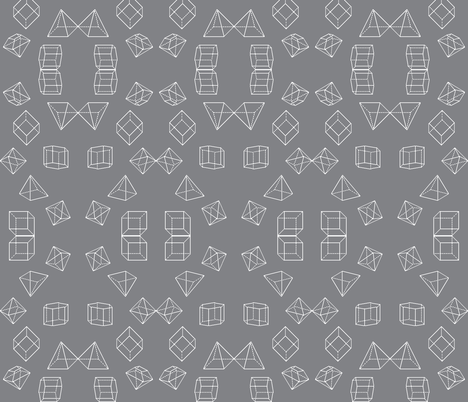 8-bit Fit Isometric Shapes fabric by tscho on Spoonflower - custom fabric