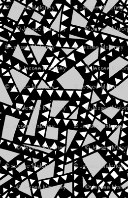 Triangle Tape - Black, White