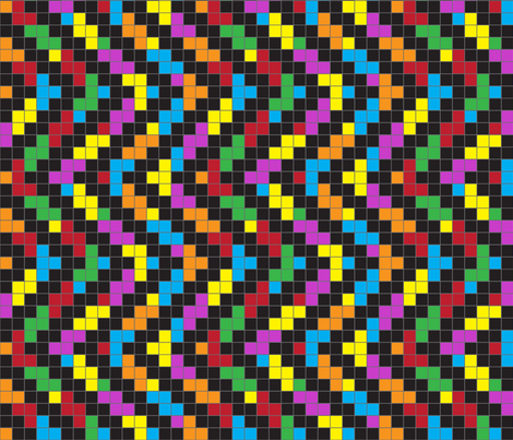 ZigZag Blocks fabric by coloroncloth on Spoonflower - custom fabric