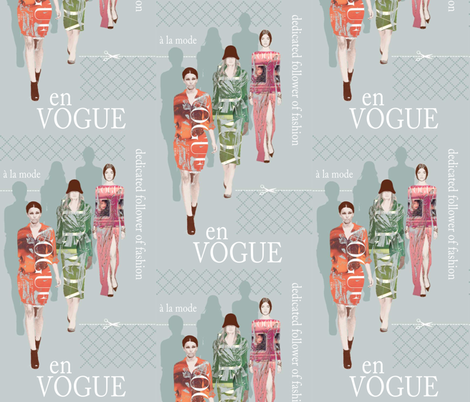 Dedicated follower of fashion fabric by gail_mcneillie on Spoonflower - custom fabric