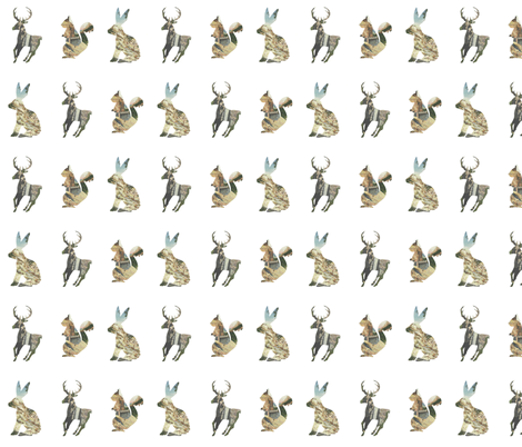 Yellowstone Twig fabric by leahbaker-dryden on Spoonflower - custom fabric