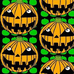 White-Eyed Pumpkin Jack O' Lantern