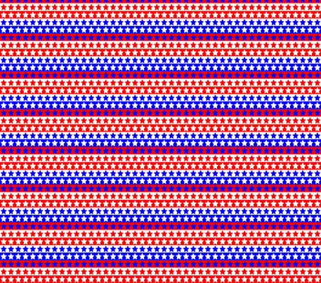 Red White Blue Star Stripe fabric by pd_frasure on Spoonflower - custom fabric