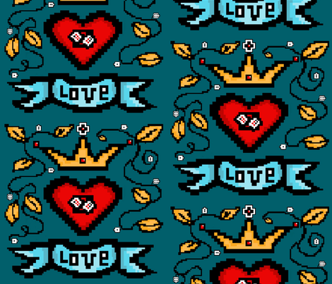 Love is King fabric by mezzones on Spoonflower - custom fabric