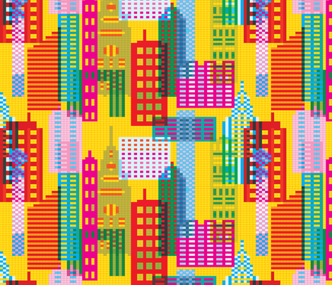 Pop City fabric by supersophie on Spoonflower - custom fabric