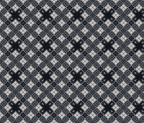 8 bit o' plaid fabric by debbzilla on Spoonflower - custom fabric