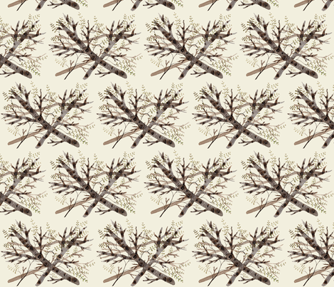 thicket natural fabric by gollybard on Spoonflower - custom fabric