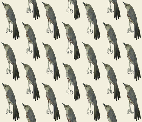 wood thrush west natural fabric by gollybard on Spoonflower - custom fabric
