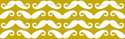 Mustard mustache allover