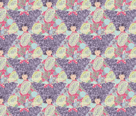 flora_violet_pattern fabric by lfntextiles on Spoonflower - custom fabric