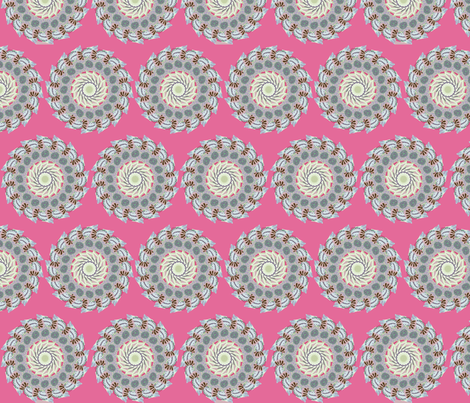 flora_flowers_1_rep_pink fabric by lfntextiles on Spoonflower - custom fabric