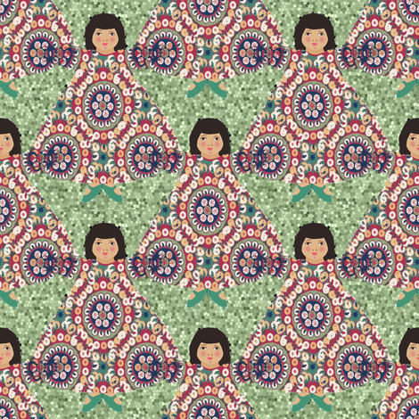 suzi_pattern_peridot fabric by lfntextiles on Spoonflower - custom fabric