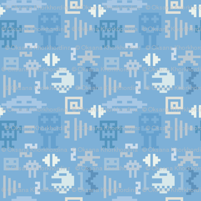 Pixel monster pattern