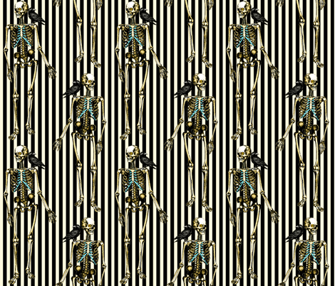 Dancing Skeleton Stripes