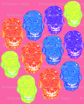 Candy Skulls Pink