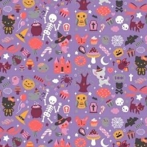 kawaii halloween purple