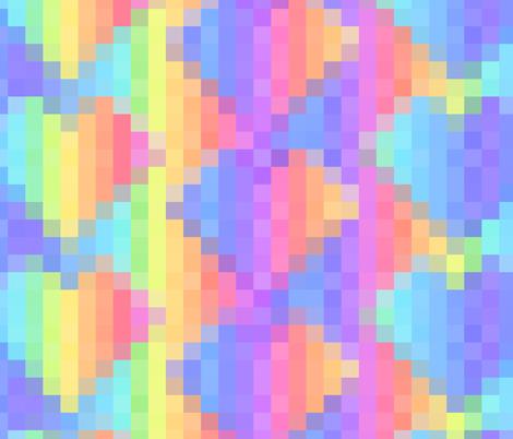 8-bit Heart fabric by sarahgarrett on Spoonflower - custom fabric