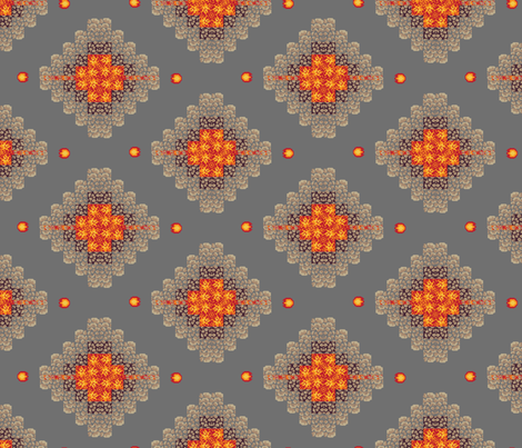 8-bit_argyle_-_dungeon_fireballs_png_full_length fabric by dahbeedo on Spoonflower - custom fabric