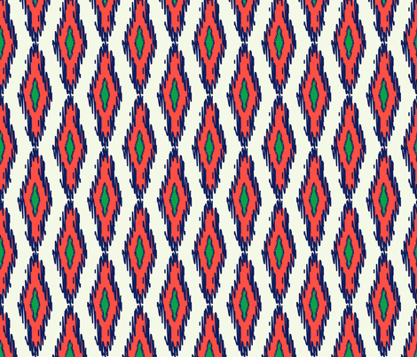 ikat fabric by holli_zollinger on Spoonflower - custom fabric