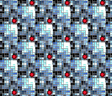 balancing act 8 bit fabric by dk_designs on Spoonflower - custom fabric