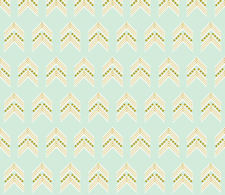 mint gold chevron large fabric by eivie&co on Spoonflower - custom fabric