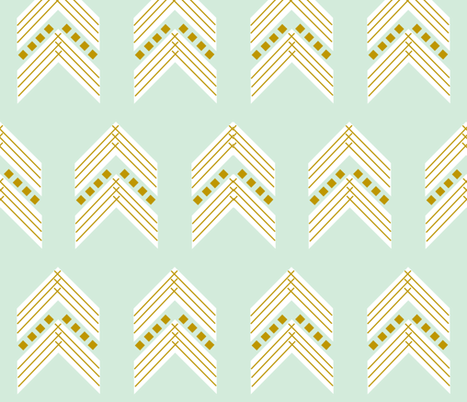 mint gold chevron large