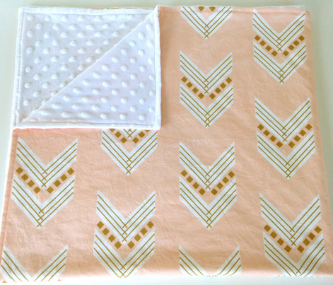 blush gold chevron large