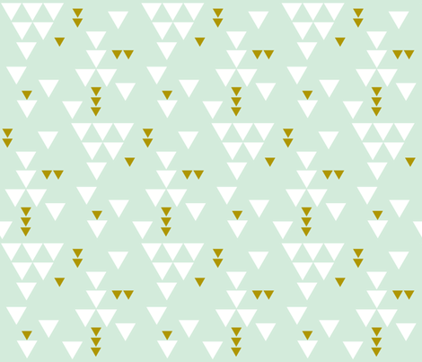 mint triangle fall fabric by eivie&co on Spoonflower - custom fabric