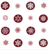 Red Snowflake Fabric Matches Holiday Pillow Sets