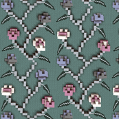 8-Bit 'Crafted' Floral