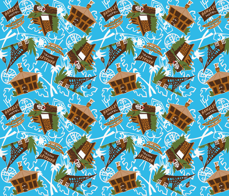 Mid Century Tiki San Diego Style fabric by eric_october on Spoonflower - custom fabric