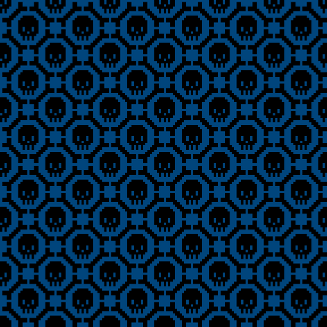 8-bit Bones and Skulls (blue) fabric by petitspixels on Spoonflower - custom fabric