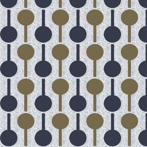 sucette_bleu_ocre fabric by la_modette on Spoonflower - custom fabric