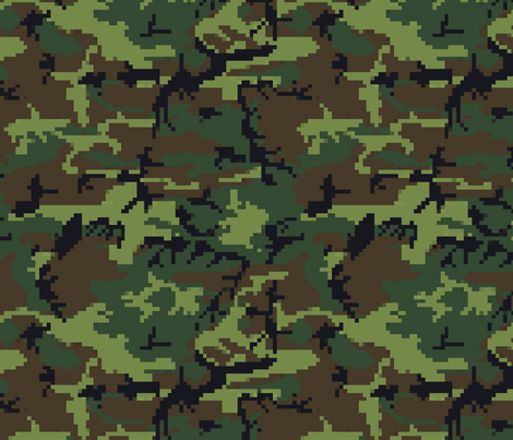 8_bit_camoflage fabric by dogdaze_ on Spoonflower - custom fabric