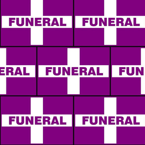 Funeral Flag - Purple